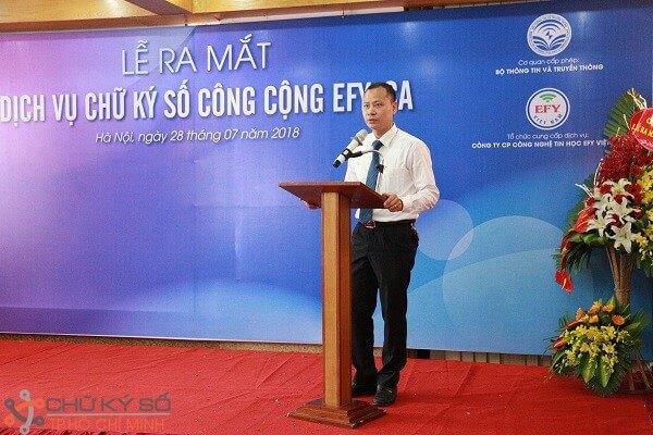 Ông Hoàng Văn Thuấn – Chủ tịch HĐQT, Tổng Giám đốc công ty EFY Việt