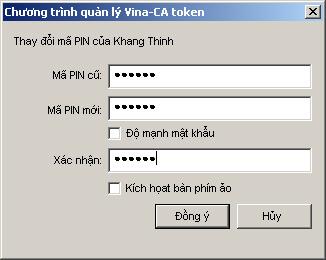 Xác nhận mật khẩu mới