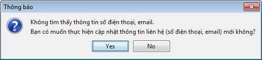 không tìm thấy email