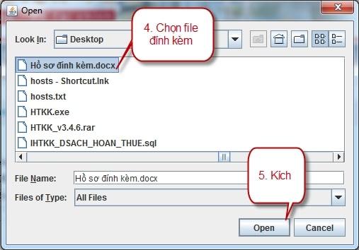 Màn hình upload file