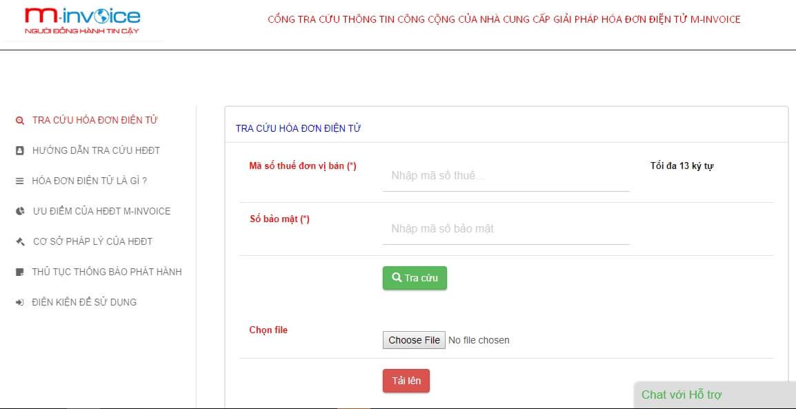 Tra cứu hóa đơn trên Portal của M-Invoice