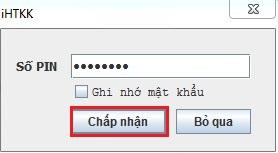 Sai mã Pin khóa token USB chữ ký số