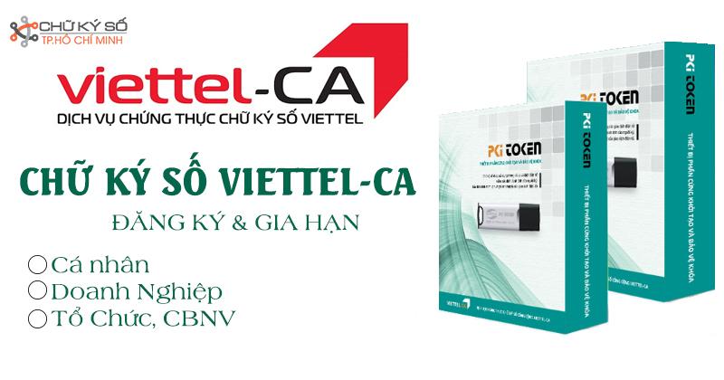 Đăng ký, gia hạn chữ ký số Viettel-CA